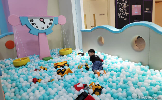 Ball pit for the younger ones at Paya Lebar Quarter Mall Indoor Playground
