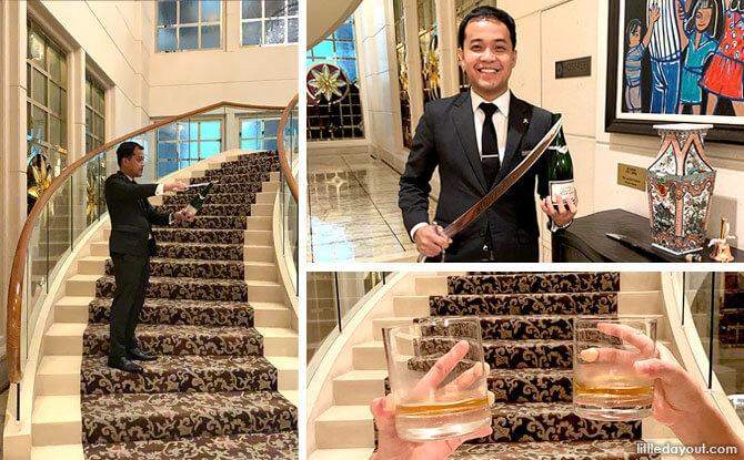 St. Regis Singapore Staycation Champagne Sabrage