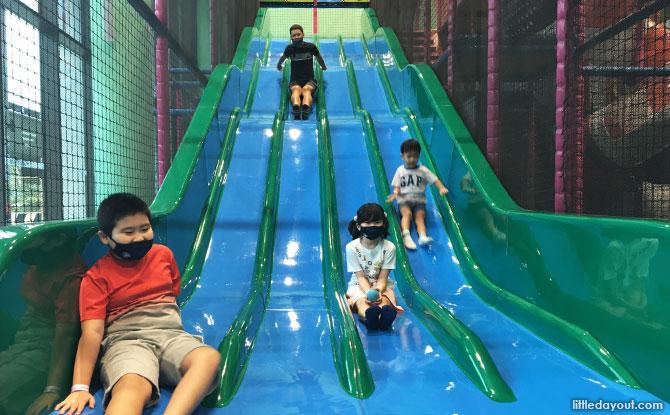Racing Wave Slides at T-Play
