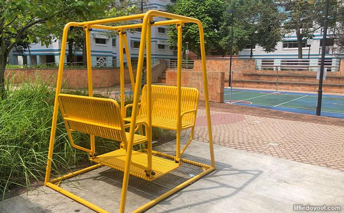 bright yellow swing