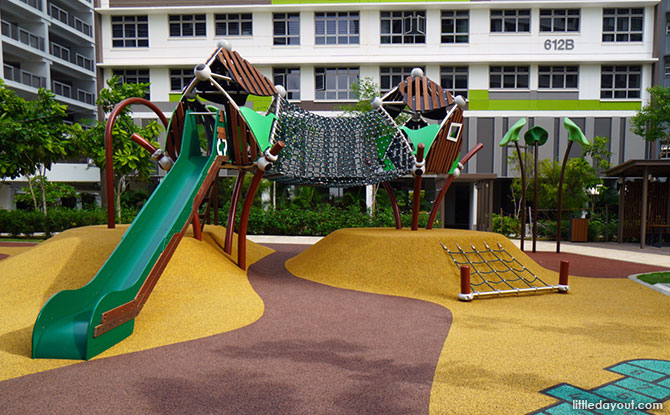 Tampines Greenview Playground Explorer Play area with slide