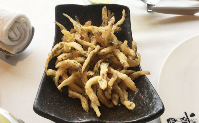 Crispy White Bait Fish in Truffle Sauce
