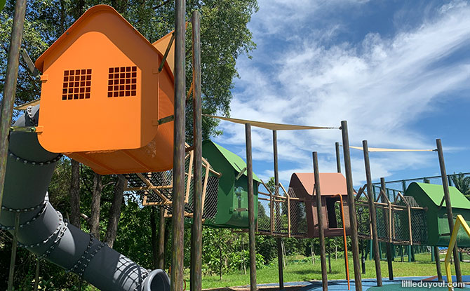 Yishun N8 Park & Playground: Colourful Houses & Green Spaces