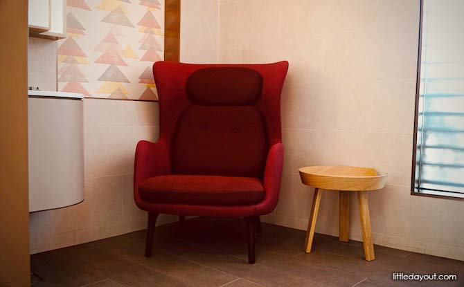 Armchair at Baby Chair Room in Jewel, Changi, Canopy Park