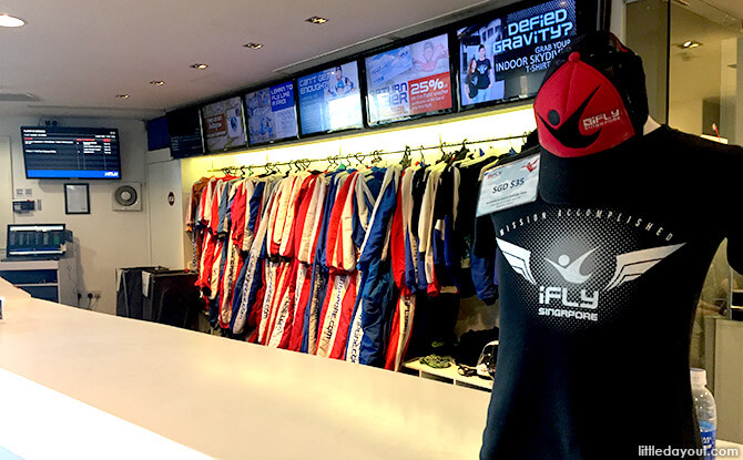 Skydiving Gear at iFly Singapore