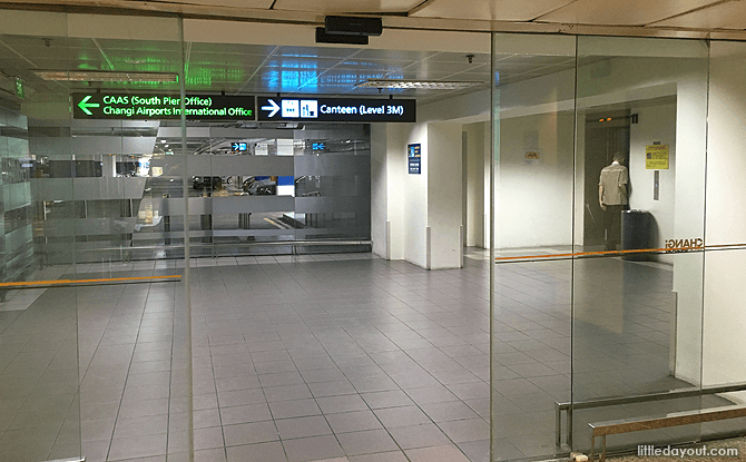 Lifts to Staff Canteen, T2 Singapore Changi Airport