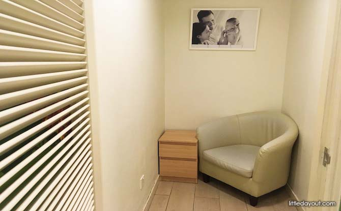 Breastfeeding room in Tanglin Shopping Centre