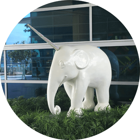 Unicelephant, Close to Merlion Park
