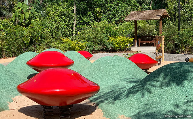 Saga Seeds at COMO Adventure Playgrove, Gallop Extension, Singapore Botanic Gardens