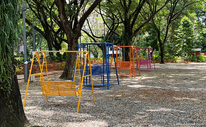 Swings at Dhoby Ghaut Green