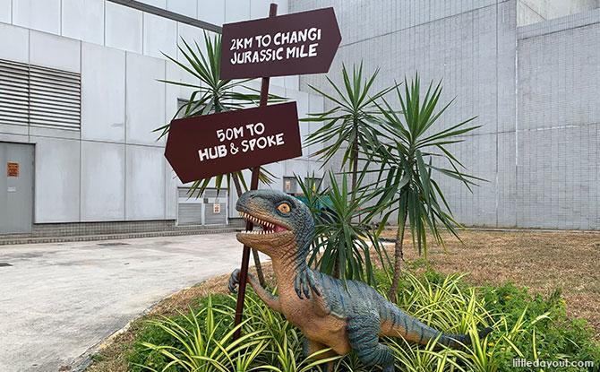 Dinosaurs near HUB & SPOKE, along the Changi Airport Connector