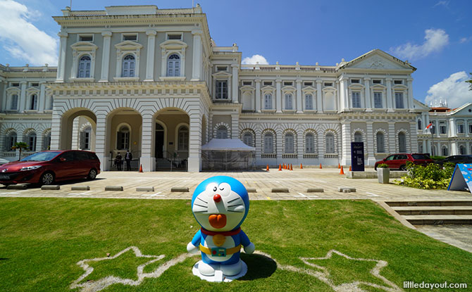 Seeing Doraemon at National Museum of Singapore