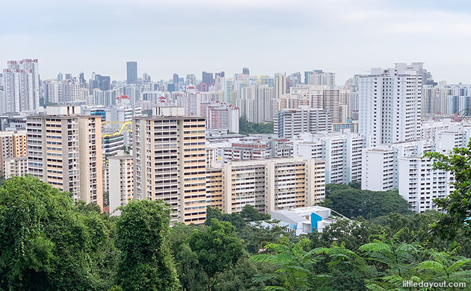 Urban Singapore view from Mount Faber