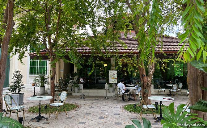 Le Jardin is a floral-themed café