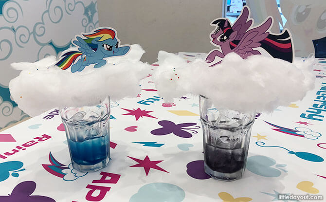 Drinks at My Little Pony Pop Up Cafe