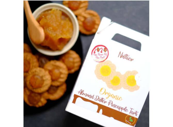 Nuttier's Organic Almond Butter Pineapple Tarts - Healthy CNY Snacks 2020
