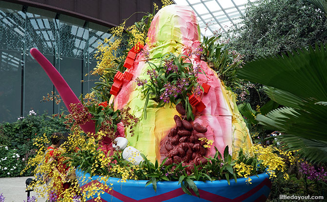 Giant bowl of ice kachang, Orchid Extravaganza 2019