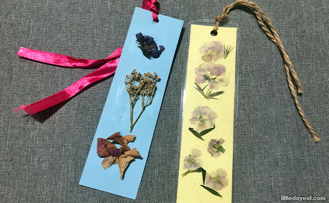 How To Make Pressed Flower Bookmarks
