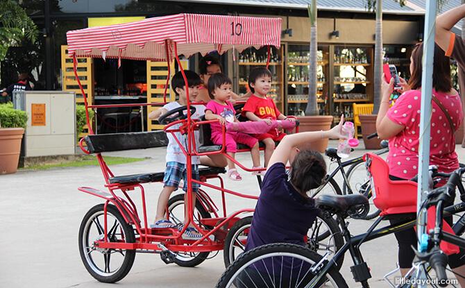 Red family bike