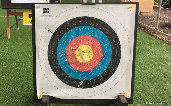 On target at Salt and Light Archery