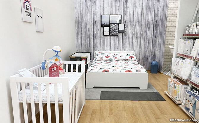 Inspiration for a bedside nursery in the master bedroom