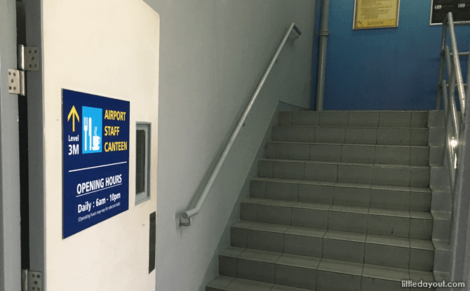 Stairs to Staff Canteen