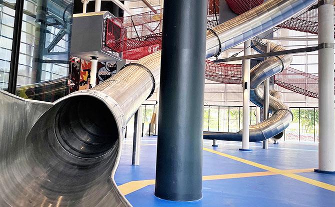 Singapore's longest indoor slide at 14m long