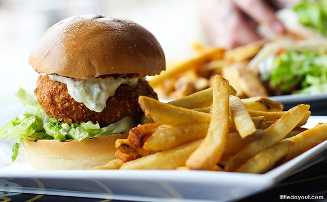 New Lunch Menu At Brewerkz: Smoked Salmon Burger, Grilled Chicken Tacos And More