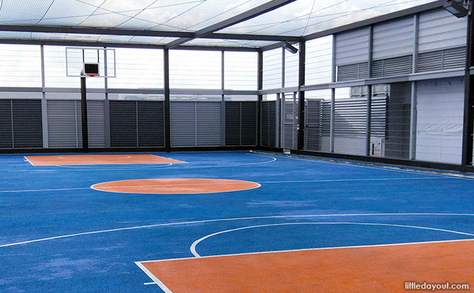 Basketball court at Nordcom II