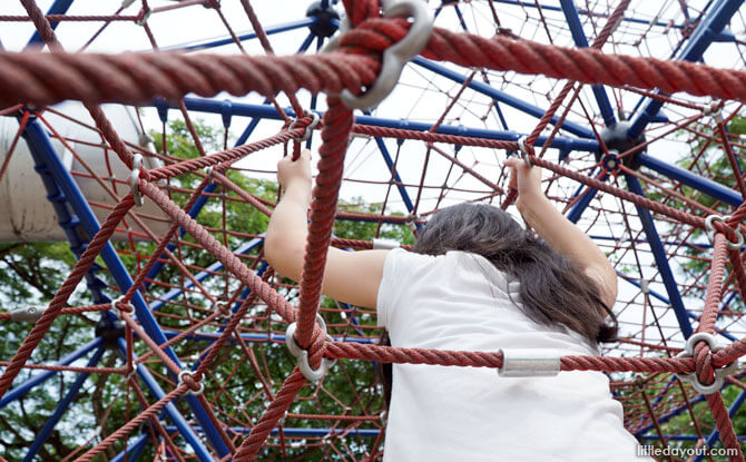 Head to an outdoor playground in Singapore