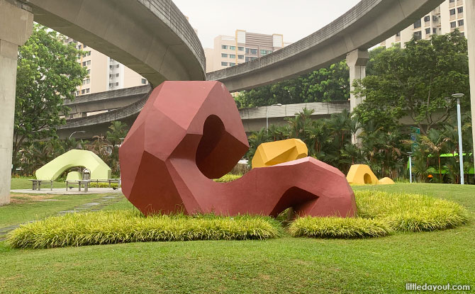 Sengkang Sculpture Park rock formations