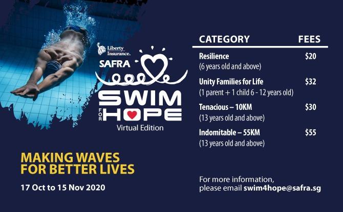 Register for Liberty SAFRA Swim For Hope 2020 Today!