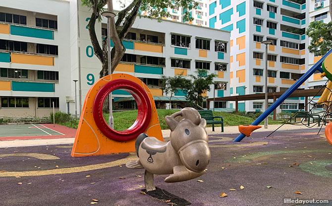 Swing and horse at Bukit Panjang Neighbourhood 2 Park Playground