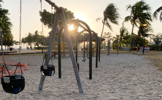 Swings at Changi Beach