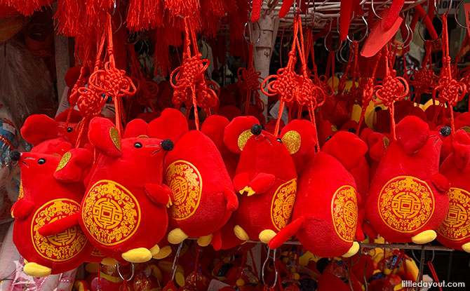 Year of the Rat decorations - Chinatown Singapore