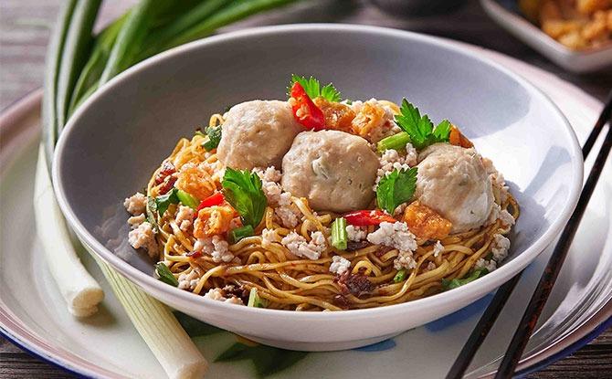 Meatball Bak Chor Mee (Dry)