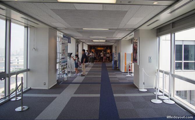 Inside the Fuji TV Building, Odaiba, Tokyo, Japan