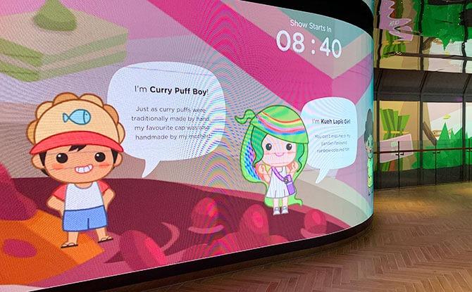 Ang Ku Kueh Girl Animated Show at ION Sky