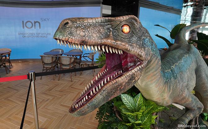 Jurassic World Café Singapore Dinosaur statue