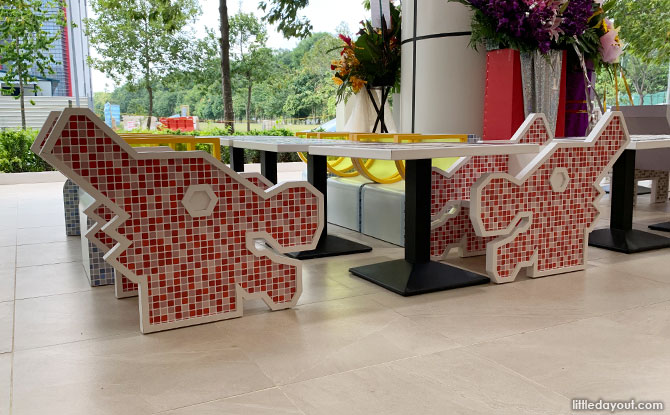 Dragon Playground seating at Koufu Food Court, Woodlands