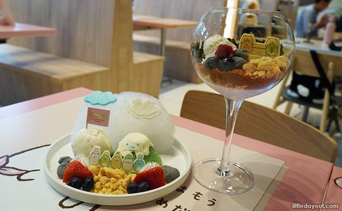 Desserts at Kumoya Orchard Central x Sumikogurashi