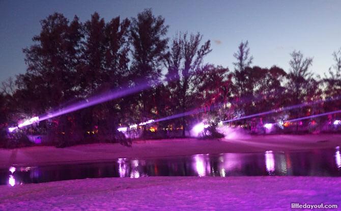 New Peaks - Sentosa Siloso Beach Light Show
