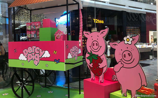Percy Pig display