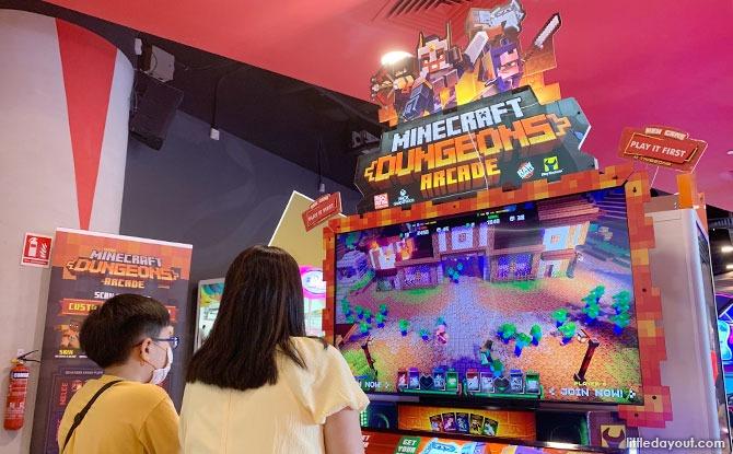 Minecraft Dungeons Arcade Game at Timezone VivoCity