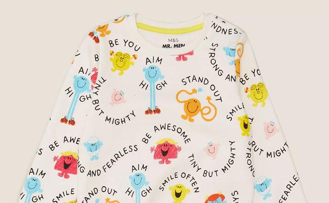 Cotton Mr Men™ Little Miss™ Sweatshirt
