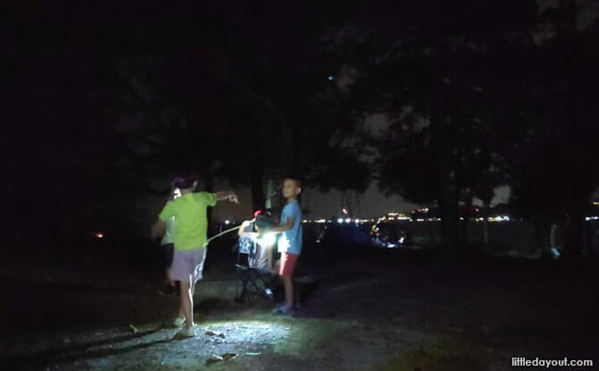 Pulau Ubin Camping at Night