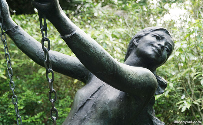 Girl on a Swing - SBG Sculpture