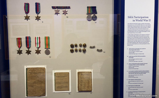 Medals awarded to a Sikh soldier for his service in World War II