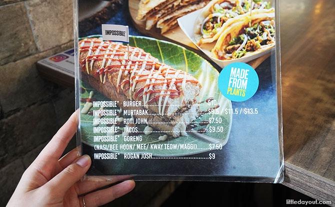Srisun Express Impossible menu