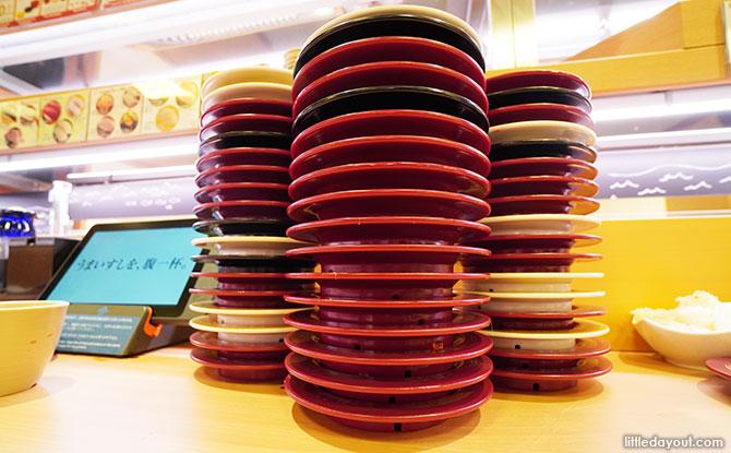 Eating at Sushiro Singapore